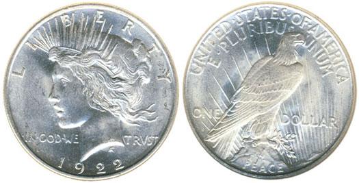 1922-D Peace Dollar