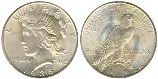 1935-S Peace Dollar
